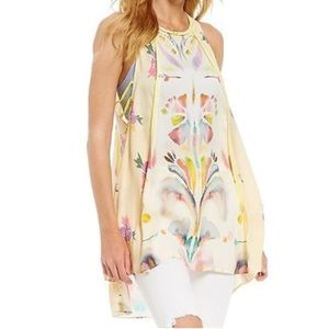 NWT Free People Dream Free Tunic watercolor floral